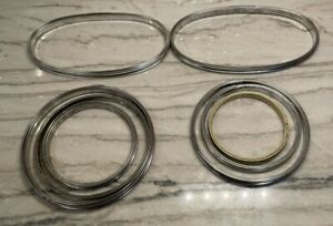 Cork Lined Metal Embroidery Ring Hoop Vintage Mixed Lot of 8 Circles Ovals