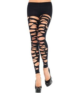 Lady's. Tattered Footless Tights, Pantyhose, Stockings. Leg Avenue 7306
