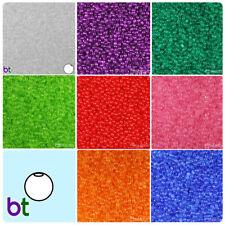 BeadTin Transparent 4mm Round Plastic Craft Beads (1000pcs) - Color choice