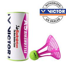 Victor AS Airshuttle Outdoor Badminton Shuttlecocks / 1 Tube of 3 Shuttlecocks