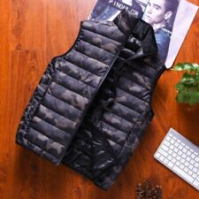 Men's Camouflage Winter Cotton Down Jacket Sleeveless Vest Waistcoat Warm Coat