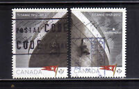 CANADA 2012 USED Sinking of Titanic Cent.SC.2536/2537