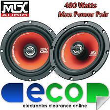 VW Polo 6N 6N2 1994 - 2003 MK3 MTX 16cm 480 Watts 2 Way Front Door Car Speakers