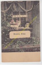 CPA Old Postcard vintage - Enfant - Child FRAGILE BONNE FETE