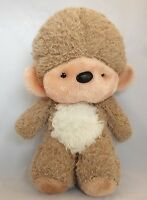 "Mervyn's  Vintage Monkey Plush Stuffed Animal 14"" Brown Beige Tan White Peach"