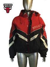 VTG 90s Chicago Bulls Starter Hooded Jacket, puffer, Spell Out, Mens L, NBA