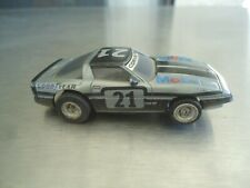 Tomy AFX HO Slot Car Chevy Corvette Mobil #21 AS-IS