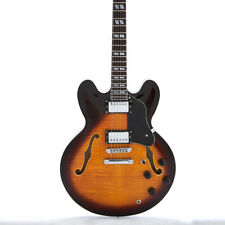 Semi Hollow Body Electric Guitar ES-335 AAAA Flamed Maple Top and Back Tobacco