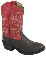 Kid'S Monterey Dark Brown/Red Cowboy Kids Boot