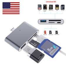 Micro SD Memory Card Reader USB C 3.1 Type C to USB 3.0 OTG HUB Adapter Charger