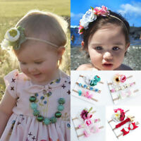 3Pcs/Set Kids Baby Girls Toddler Flower Headband Headwear Hair Band Accessories