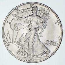 Better Date 1991 American Silver Eagle 1 Troy Oz .999 Fine Silver *680