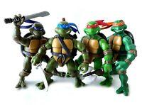 Leo Raph Don Mikey TMNT Ninja Turtles Action Figures Lot 2003 Complete Team Set