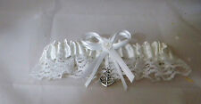 Wedding Party Ceremony Military Ships Anchor Beach Ocean White Garter
