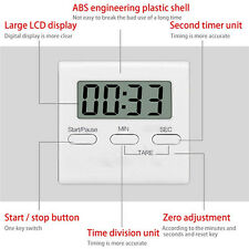 LCD Timer Up Clock Cooking Kitchen Count-Down Loud Alarm Magnetic Large Digital