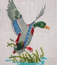 LD 3413 Mallard Duck Preworked Petitpoint Needlepoint Canvas