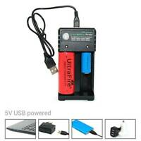 1/2 Slots 18650 Rechargeable Li-ion Battery Smart Charging Battery USB Cable B6