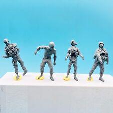 LZModel F35002 1/35 Zombie Series U.S. Army Zombie (4 Resin Figures)