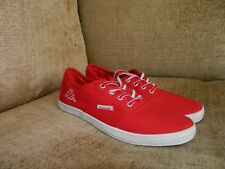 Mens/large boy red  kappa Pumps Canvas Lace Up Casual  Trainers UK6 eu39 mint