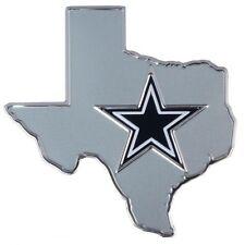 Dallas COWBOYS Car Auto STATE Aluminum Metal Color emblem NIP