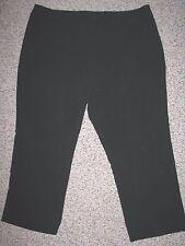 NWT AVENUE PETITES BLACK STRETCH SLIMMING TROUSER PANTS 20 PETITE 20P Inseam 27