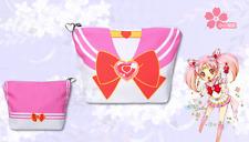 Anime Sailor Moon Canvas Purse Coin Wallet Pink Sweet Make Up Bag  Cute