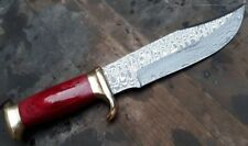 Custom made Knife king's Down Under Outback Knife Damascus Version