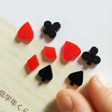 20 pcs 8mm Cute Resin Pokers FlatBack Cabochons Hearts Diamonds Clubs Spades DIY