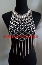 Fashion Style B181 Women Harness Gold Chains Crystal Beads Body Chains Jewelry