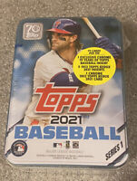 2021 Topps Series 1 MLB Baseball Bryce Harper Tin Trading Cards SEALED NEW.