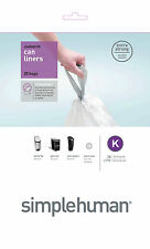 Simplehuman code/size K (35-45 litres) bin bag liner, CW0171 (Pack of 20)