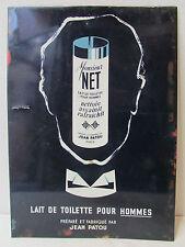 ancienne plaque publicitaire rigide pub monsieur net jean patou signée guion
