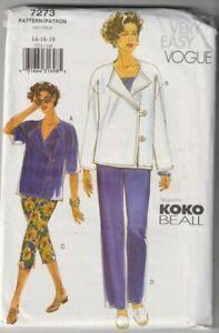 7273 VOGUE Koko Beall - JACKET & PANTS - Sz 14/16/18