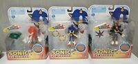 Set of 3 Figures Jazwares Sonic (Rings+Doom's Eye+Master Em)  NEW Original RARE