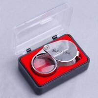 Loupe Bijoutier de Poche en Verre Optique Grossissement x30 Outil Horloger