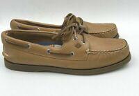 Womens Sperry Leather A/O Authentic Original Boat Shoes Sahara Honey Sole 8 #160