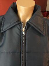 True Vintage Men's Coat Sports Master Retro Hipster Lame Navy Blue