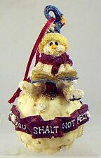 Boyds Bears CHRISTMAS Ornament AXEL THOU SHALT NOT MELT - Snowman Stays Cool!