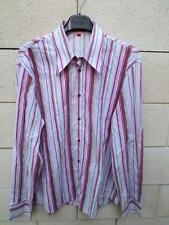 Chemise HUGO BOSS rose manches longues L