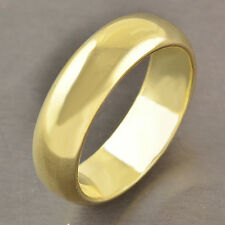 Authentic yellow Gold Plate Mens Smooth Love Ring New Free Shipping Size 10