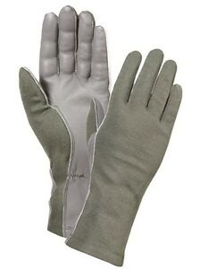 Army Marine Fire Retardant Flight Gloves - Foliage, Desert, Black, OD/ Size 7-12