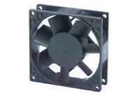 Ventola assiale 220 Vca 80x80x25 metallo alluminio su cuscinetti cooling fan