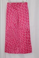 Lilly Pulitzer Women's Cropped Capri Pants Pink White Rope Stretch Flare size 0