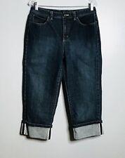 Talbots Capri Jeans Size 10 Cropped Dark Wash Stretch Denim Selvedge