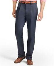 Izod Mens American Chino Pants Double Pleat Non Iron Navy 36 32