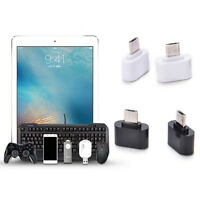 2PC Micro USB Male to USB 2.0 Adapter OTG Converter For Android Tablet Phone CA