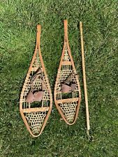 Vintage Indian Snowshoes 35 x 8  for decor