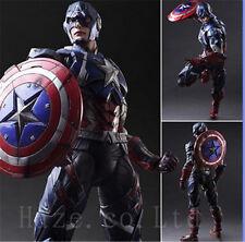 "Marvel Universe Avengers Play Arts Kai Captain America 10"" Action Figure Cosplay"