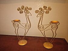 Wire Reindeer Candle Holders Set of 2