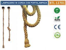 LAMPADARIO IN CORDA CON PORTALAMPADA PER LAMPADINE E27